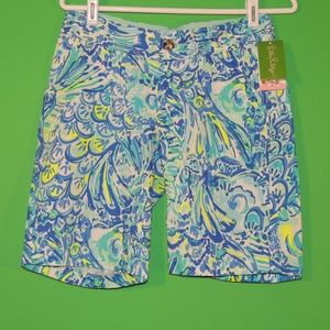 Lilly Pulitzer Womens 00 Blue Crush Shorts NEW
